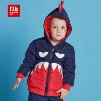 jjlkids季季乐童装新款男童棉衣冬装轻薄棉袄保暖儿童恐龙外套BDA63050