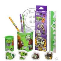 植物大战僵尸三星牌植物大战僵尸文具礼盒学生儿童礼物桶装铅笔笔筒文具