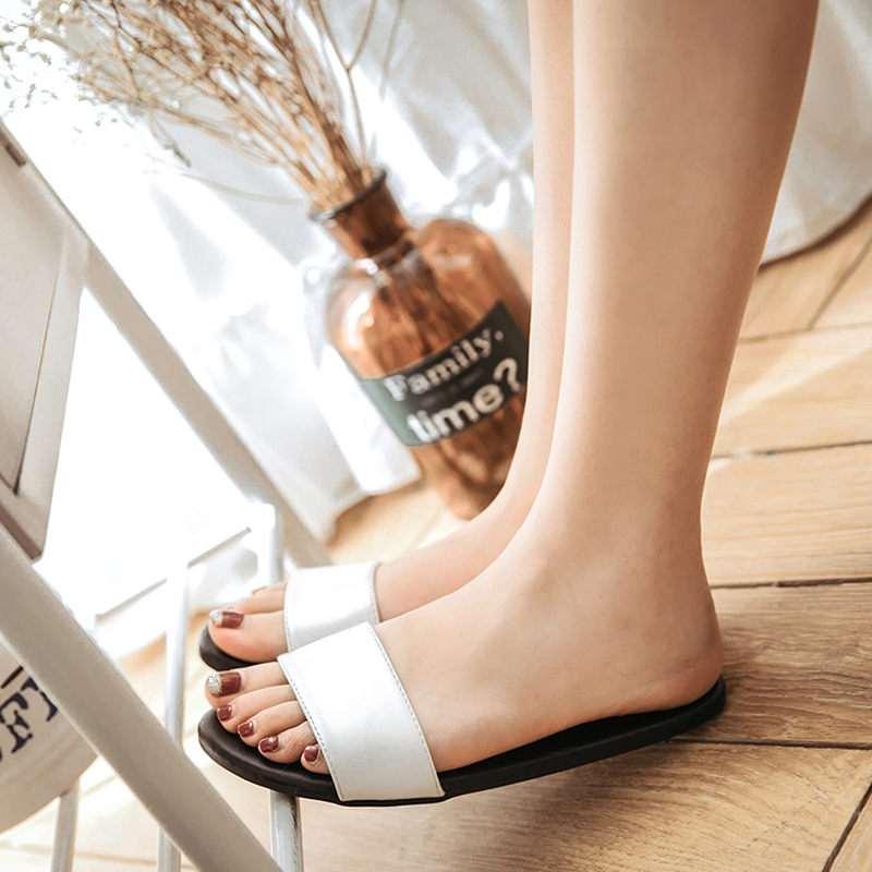 O'SHELL欧希尔新品057-1754休闲平底鞋女士凉拖鞋