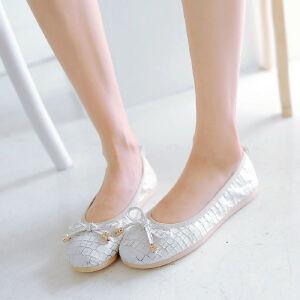 O'SHELL欧希尔新品057-1512韩版平底鞋女士豆豆鞋