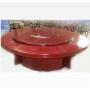 鑫宣美XM-CZ011手动餐桌1.3米实木餐桌