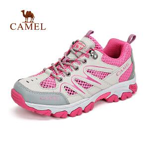 新品 骆驼户外女款徒步鞋 女款春夏透气舒适耐磨徒步鞋