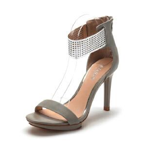 【3折到手价104.7元】星期六ST&SAT春夏牛皮时尚休闲凉鞋女SS52118754