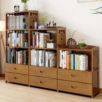 老睢坊 楠竹书架书柜简约现代书架落地简易书架客厅实木置物架收纳储物柜