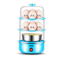 领锐 双层三层煮蛋器蒸蛋器自动断电小型煮鸡蛋羹早餐机迷你家用 煮蛋器蒸蛋器