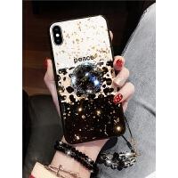 新款XSMAX苹果X手机壳抖音同款8X带钻支架iphone8plus女款豹纹7P挂绳iphone7软壳iphoneX软