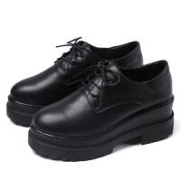 201910312027015482019秋季黑色英伦风单鞋秋款小皮鞋女潮百搭厚底松糕坡跟女鞋