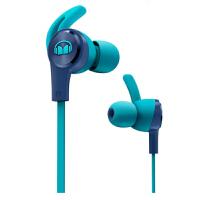 【当当自营】MONSTER/魔声iSport Achieve 爱运动 入耳式耳机 防缠绕线控带耳麦手机耳机 耳塞式跑步运动耳机 蓝色