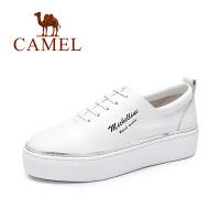 Camel/骆驼女鞋 时尚休闲中跟厚底舒适百搭单鞋