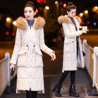冬季羽绒女2018新款棉衣女中长款韩版修身过膝长款棉袄外套潮