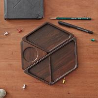 当当优品 橙舍创意桌面收纳盒木质组合式办公用品收纳饰品名片整理盒
