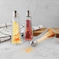 德国法克曼调料瓶 玻璃瓶 餐桌用胡椒瓶 盐瓶 锥形瓶3只装46871.33