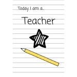 预订 Today I am a Teacher: Children's Notebook Role play Scho