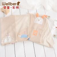 威尔贝鲁 婴儿隔尿垫超大号防水透气宝宝隔尿床垫 可洗纯棉月经垫