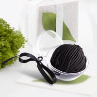 优家(UPLUS)球形盒装高弹力盘发发圈头绳30根 黑色(橡皮筋 发绳 扎头发马尾 发饰)