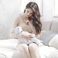 加绒打底衫秋冬睡衣裤产后收腹哺乳秋衣上衣喂奶单件孕妇保暖内衣