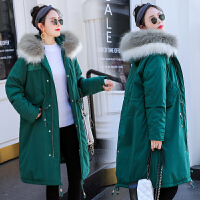 冬季怀孕期中长款大毛领韩版宽松棉袄孕妇冬装棉衣外套