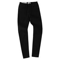 烟灰色黑色牛仔裤女九分裤显瘦2018春夏高腰紧身弹力9分小脚长裤