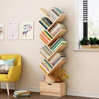 老睢坊 书架落地简约现代置物架书柜桌上书架小书柜学生创意简易树形书架