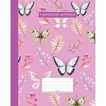预订 Composition Notebook: College Ruled - Butterfly Summer B