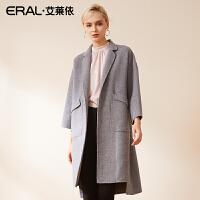 ERAL/艾莱依2018秋季新款双面呢大衣时尚气质外套617072003