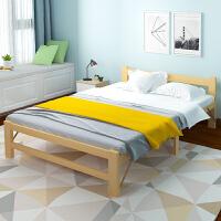 亿家达双人折叠床实木床单人1米小床成人简易木板1.2米午休床家用