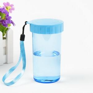 特百惠(Tupperware)雅致塑料随心水杯子310ml创意水杯便携防漏学生杯儿童杯柑桔黄