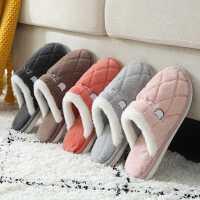 棉拖鞋女冬季家用室�燃揖臃阑�耐磨�底保暖毛毛�q棉鞋男士秋冬季