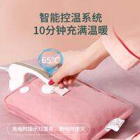 热水袋充电式防爆暖水袋��宝宝注水敷肚子电暖手宝毛绒韩版可爱女