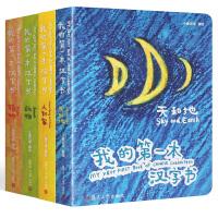 我的第一本汉字书 辑全4册 0-1-3-6岁幼儿宝宝看图识字认字卡片 儿童早教启蒙认知翻翻书 甲骨文游戏幼儿益智绘本