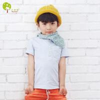 【当当自营】贝康馨 BabyComfort 韩版童装 儿童短袖纯色T恤 2016夏季新款男童t恤