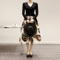 2018秋女士连衣裙韩国女装2018秋装新款气质修身长袖针织名媛小香风连衣裙套装裙