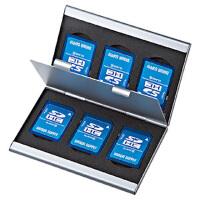【品牌直供】日本SANWA 包邮! FC-MMC5SD SD卡收藏盒 数码收纳盒 SD卡盒 存储卡盒 记忆棒盒