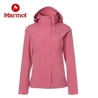 【开学季】Marmot/土拨鼠户外运动女士防风防泼水保暖透气连帽冲锋衣