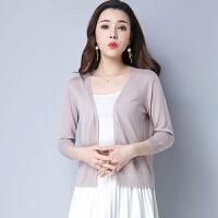 韩版薄款针织开衫时尚披肩外套潮外穿休闲防晒衣空调女上衣 可礼品卡支付