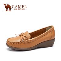 Camel/骆驼女鞋 春季新款 舒适简约日常舒适牛皮单鞋女鞋