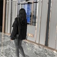 女装秋冬新款宽松双排扣风衣女韩版纯色气质大翻领短款外套上衣潮外套国风质感里外西装领女中袖中矮个子