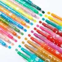 24色油画笔绘彩棒画材旋转蜡笔绘画36色彩笔学生美术用品批发