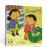 英文原版绘本Helping Hands Shopping购物 好帮手系列 吴敏兰书单 child's play 儿童图