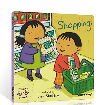 英文原版绘本Helping Hands Shopping购物  好帮手系列 吴敏兰书单 child's play 儿童图文书