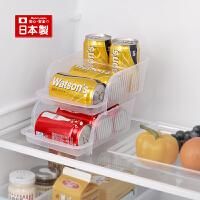 inomata日本进口厨房冰箱用啤酒可乐饮料收纳盒易拉罐储物整理盒