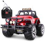 胜雄 大型34cm遥控汽车 大型悍马遥控车越野车 充电遥控玩具 儿童遥控车车模型 超有面子