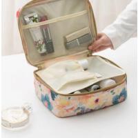 小巧便携 分类明确 便携化妆包大容量女收纳包手拿包化妆品袋 小号防水旅行洗漱包 支持礼品卡