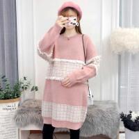 冬季新款中长款上衣孕妈针织打底衫外套孕妇秋冬装毛衣套装