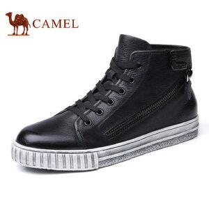 camel骆驼男鞋 秋冬新品 时尚休闲复古潮流小脏鞋高帮板鞋男