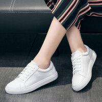 娜箐箐秋季新款韩版真皮小白鞋女板鞋休闲鞋女学生运动平底单鞋女鞋