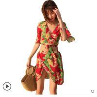 新款夏季比基尼聚拢性感显瘦裙式长袖分体四件套游泳衣女小胸可礼品卡支付