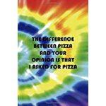 预订 The Difference Between Pizza And Your Opinion Is That I