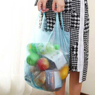 洁成家用背心式垃圾袋大号150只加厚手提式一次性塑料袋46*63cm 支持礼品卡,全店满额立减