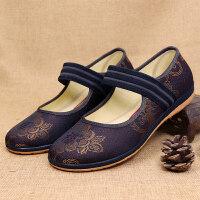 老北京布鞋女中老年人平跟奶奶鞋平底防滑软底春秋老人老太太单鞋